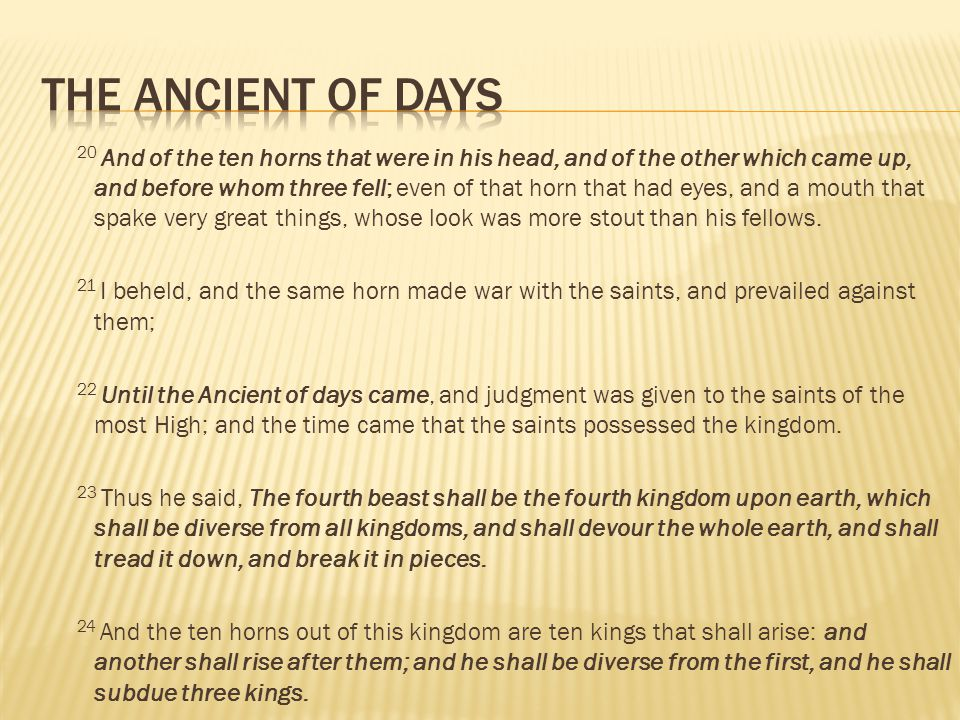 THE ANCIENT OF DAYS