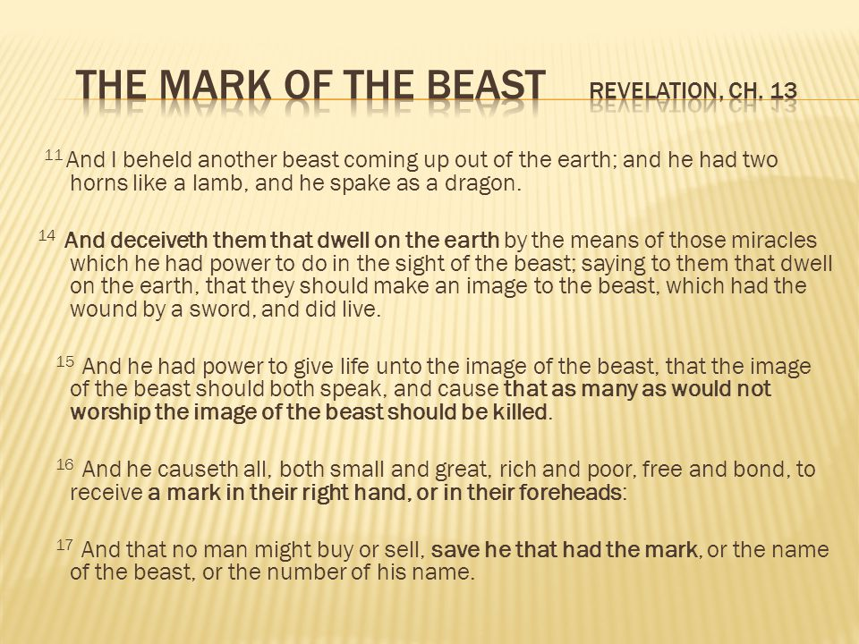 The Mark of the Beast Revelation, ch. 13