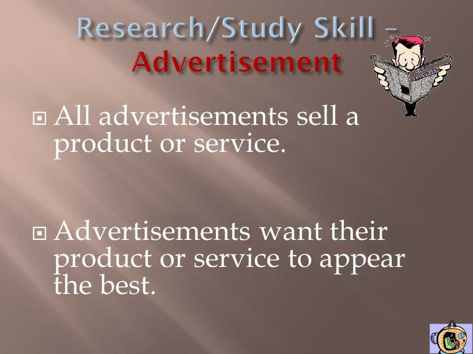 Research/Study Skill – Advertisement