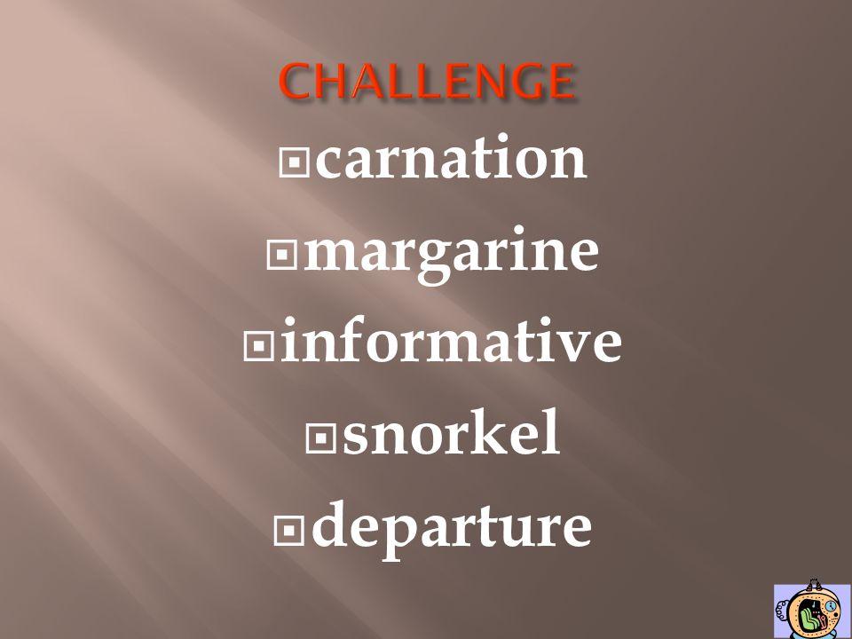 carnation margarine informative snorkel departure