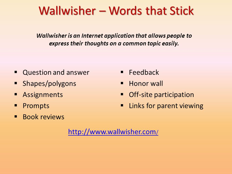 Wallwisher – Words that Stick