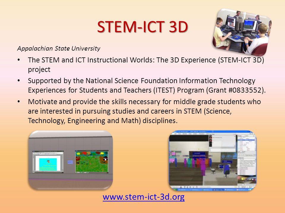 STEM-ICT 3D www.stem-ict-3d.org