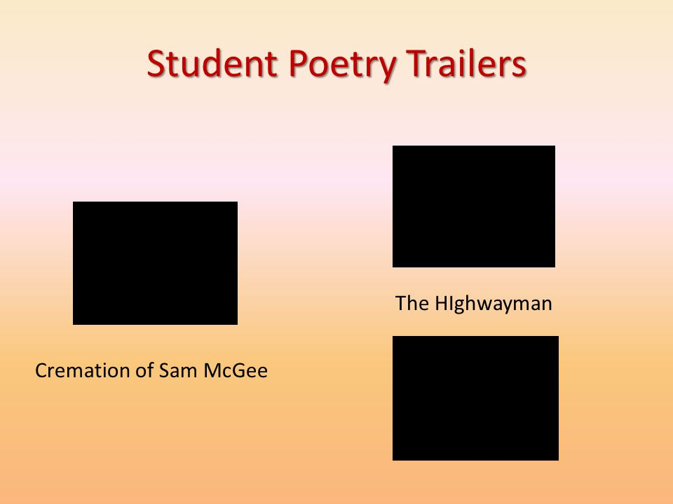Student Poetry Trailers