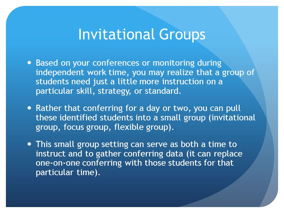 Invitational Groups