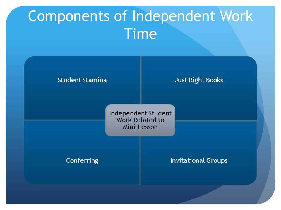 Components of Independent Work Time