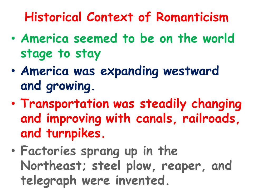Historical Context of Romanticism