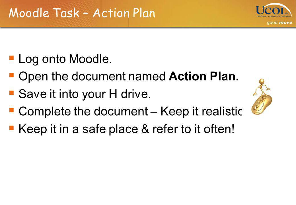Moodle Task – Action Plan