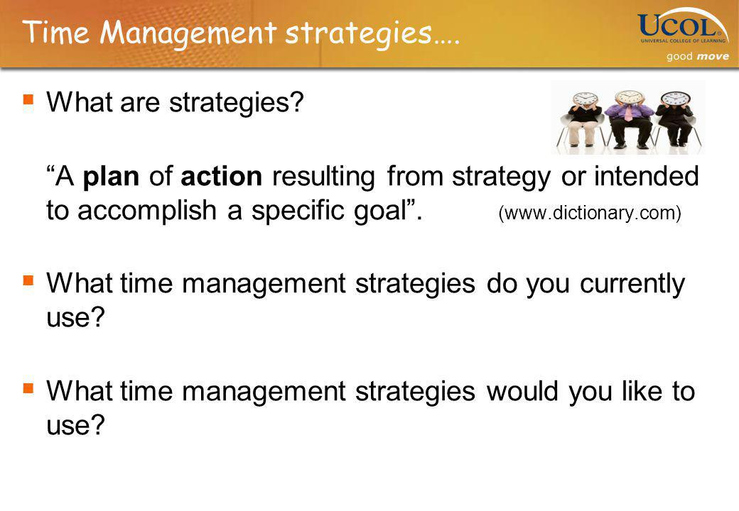 Time Management strategies….
