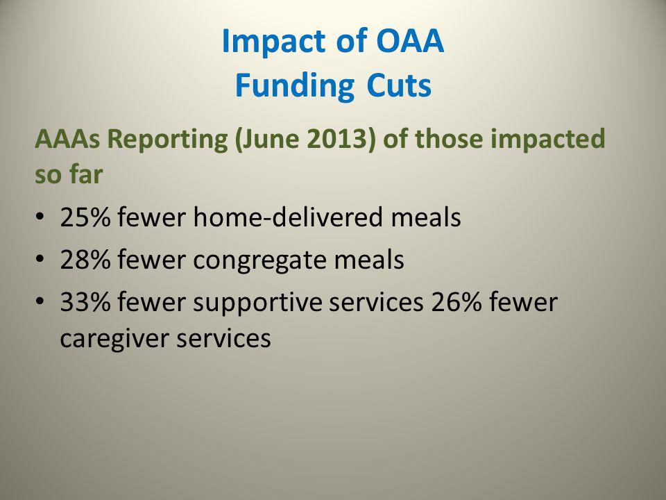 Impact of OAA Funding Cuts