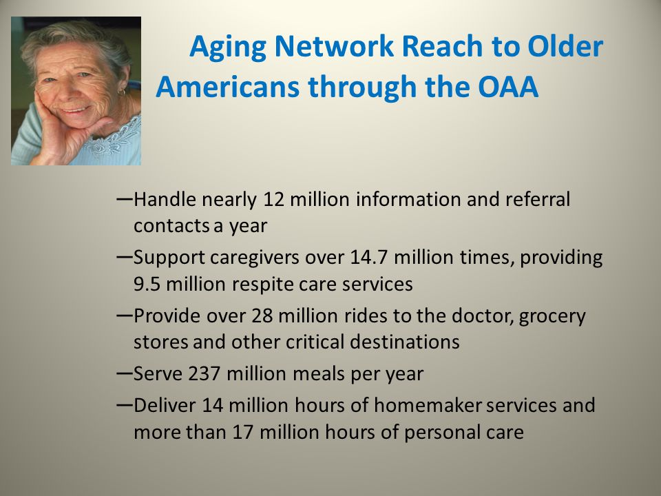 Aging Network Reach to Older Americans through the OAA