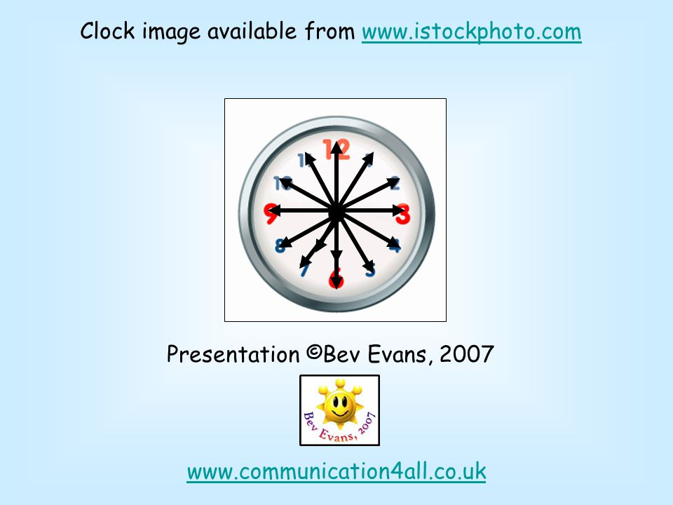 Clock image available from www.istockphoto.com