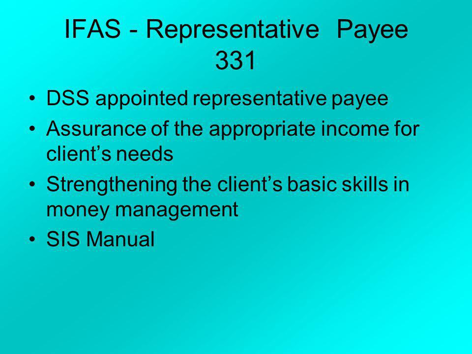 IFAS - Representative Payee 331