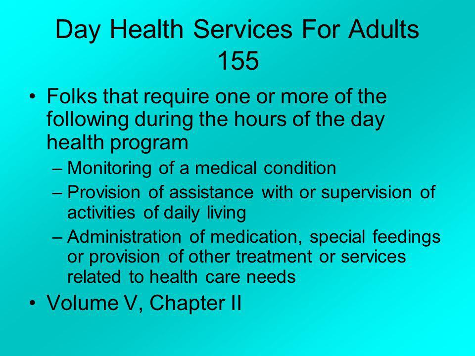 Day Health Services For Adults 155