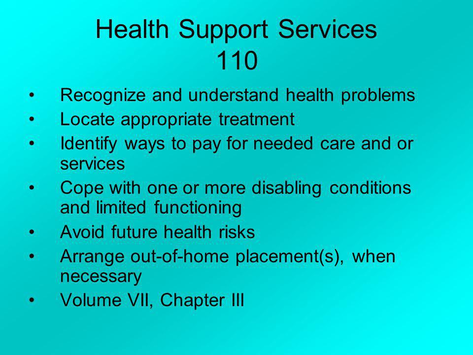 Health Support Services 110