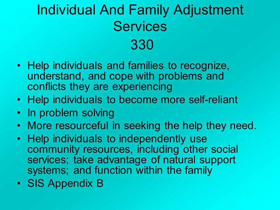 Individual And Family Adjustment Services 330