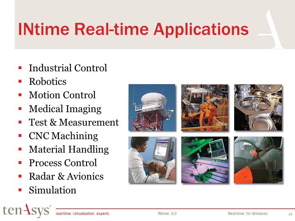 INtime Real-time Applications