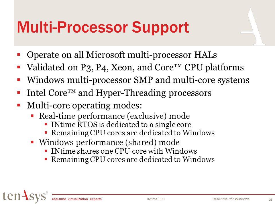 Multi-Processor Support