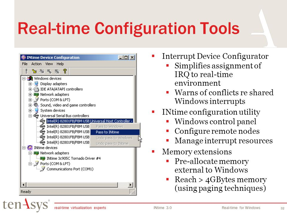 Real-time Configuration Tools