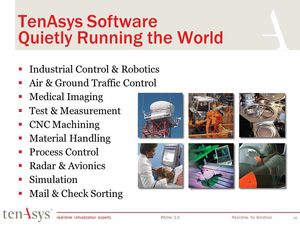 TenAsys Software Quietly Running the World
