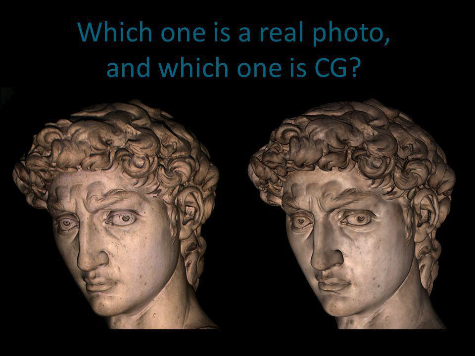 Which one is a real photo, and which one is CG