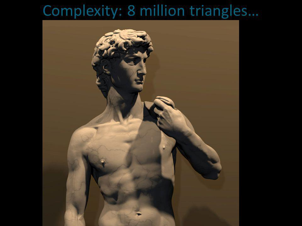 Complexity: 8 million triangles…