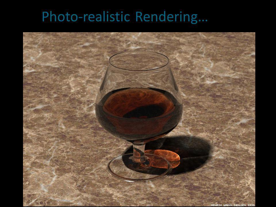 Photo-realistic Rendering…