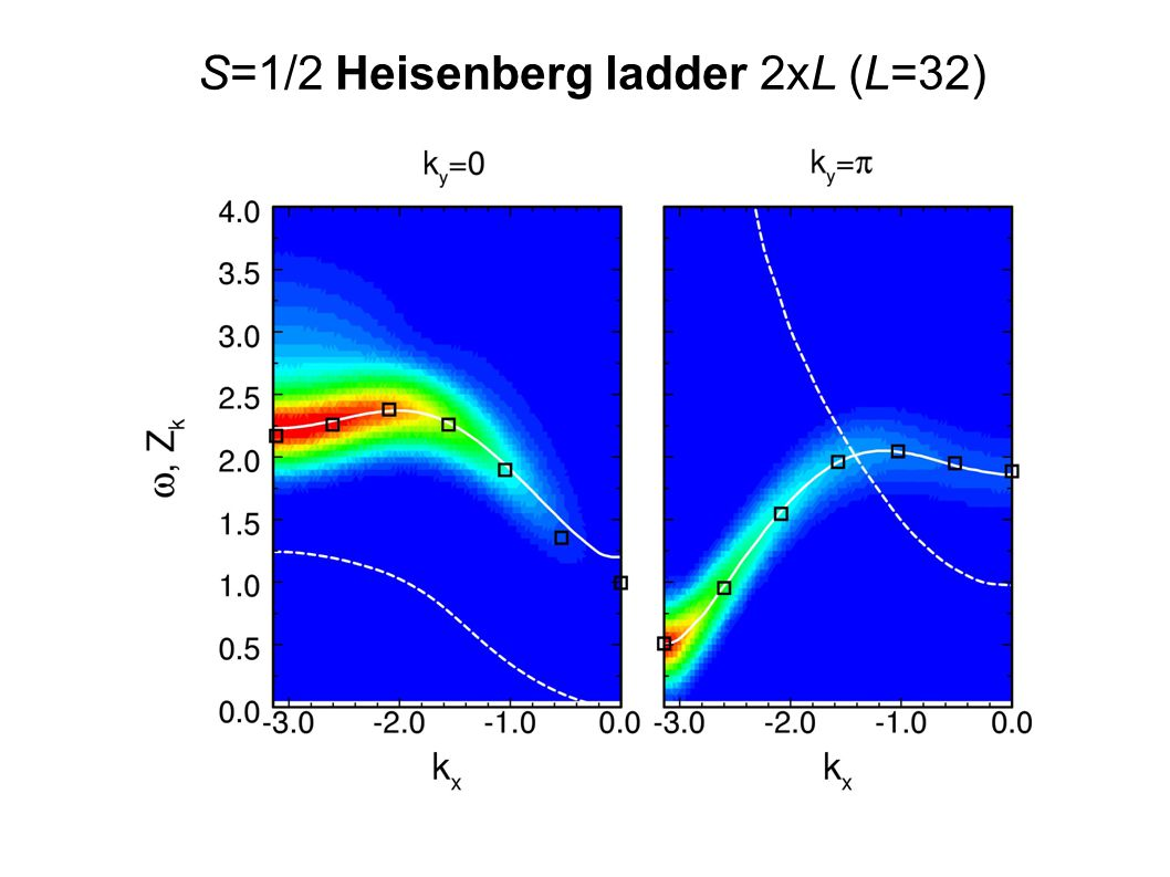 S=1/2 Heisenberg ladder 2xL (L=32)
