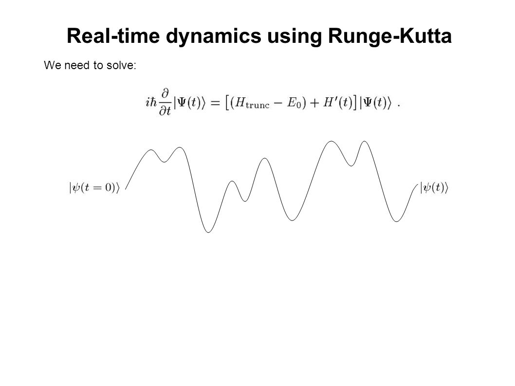 Real-time dynamics using Runge-Kutta