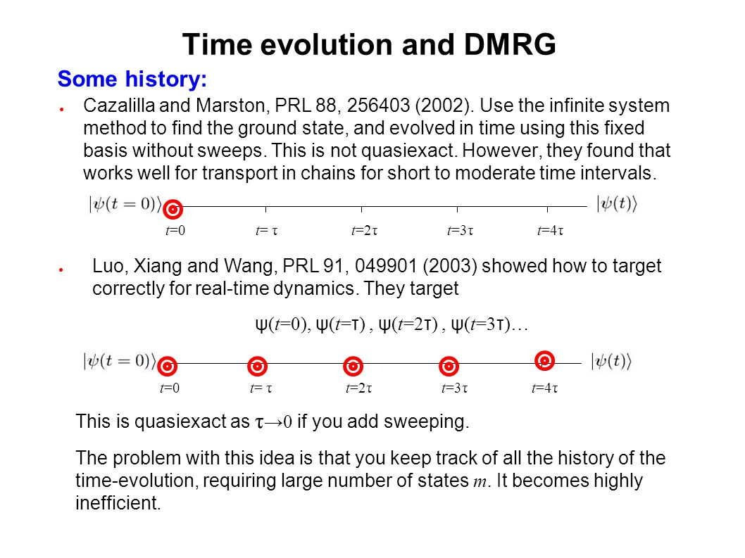 Time evolution and DMRG