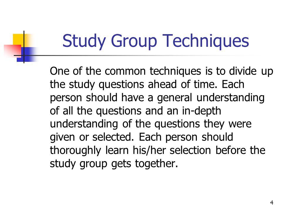 Study Group Techniques
