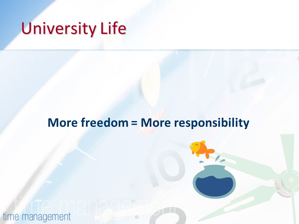 More freedom = More responsibility