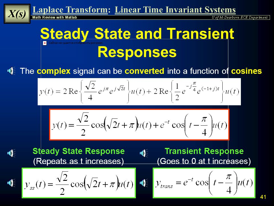 Steady State and Transient Responses