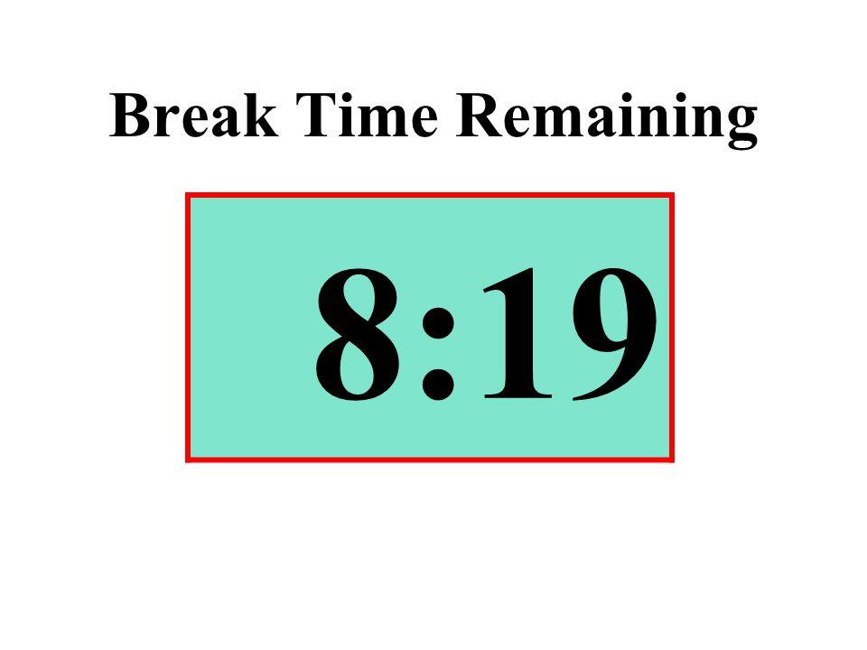 Break Time Remaining 8:19