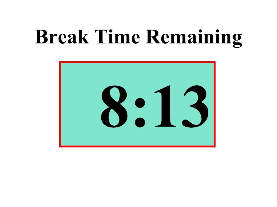 Break Time Remaining 8:13