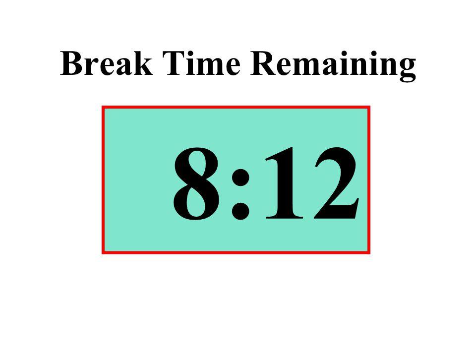 Break Time Remaining 8:12