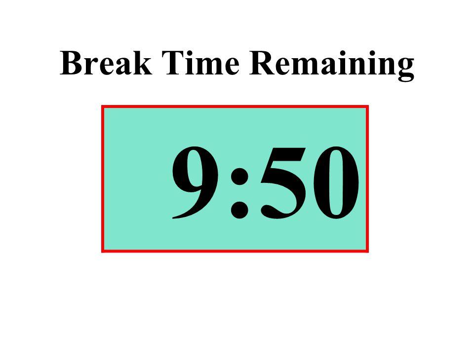 Break Time Remaining 9:50