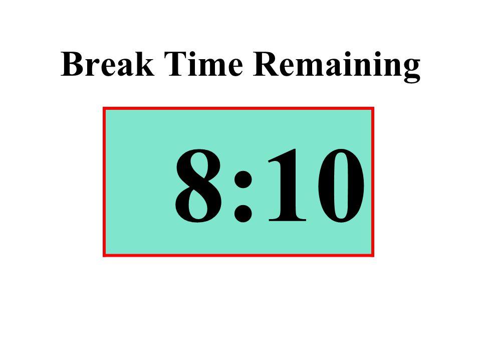 Break Time Remaining 8:10