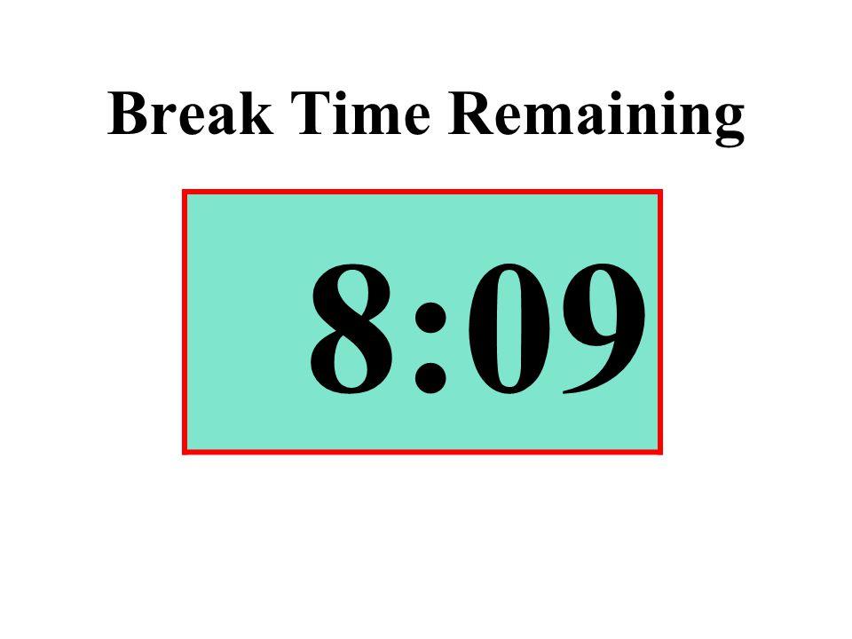 Break Time Remaining 8:09