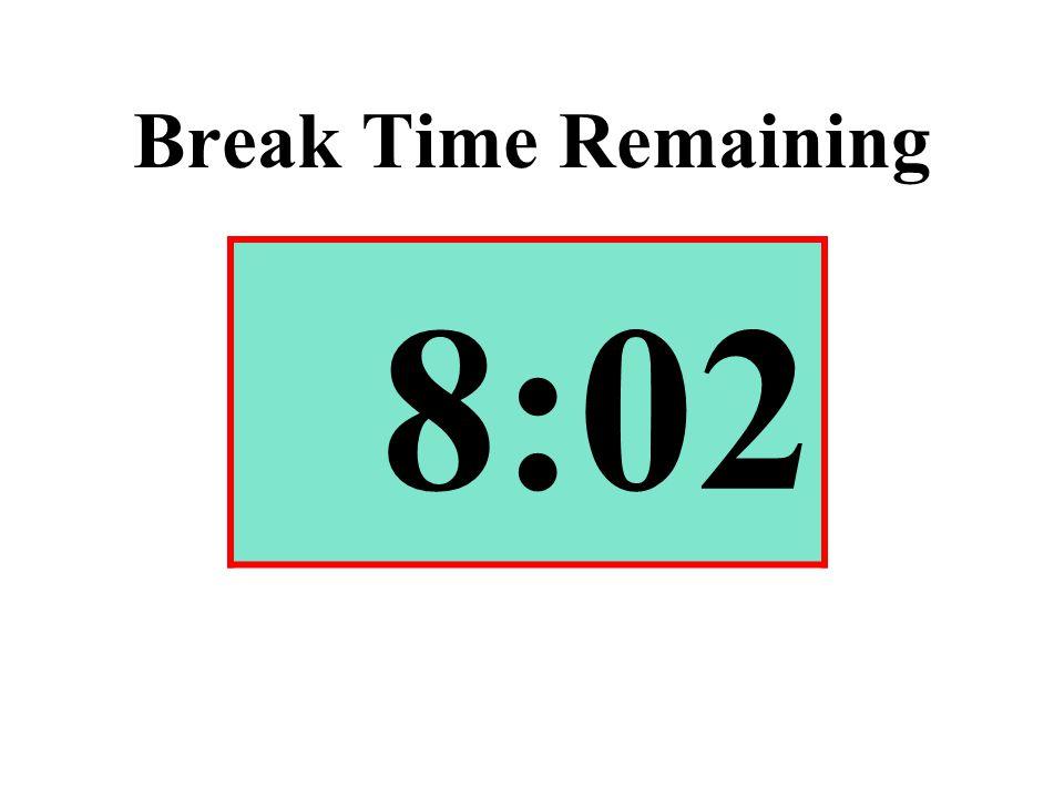 Break Time Remaining 8:02