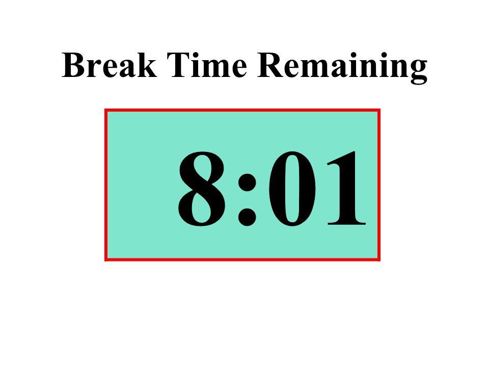 Break Time Remaining 8:01