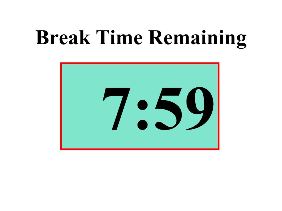 Break Time Remaining 7:59