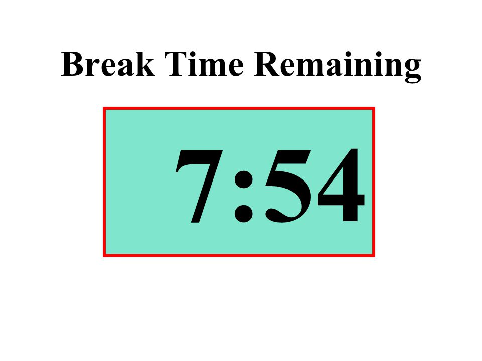 Break Time Remaining 7:54