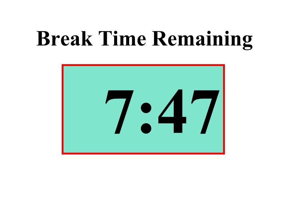 Break Time Remaining 7:47