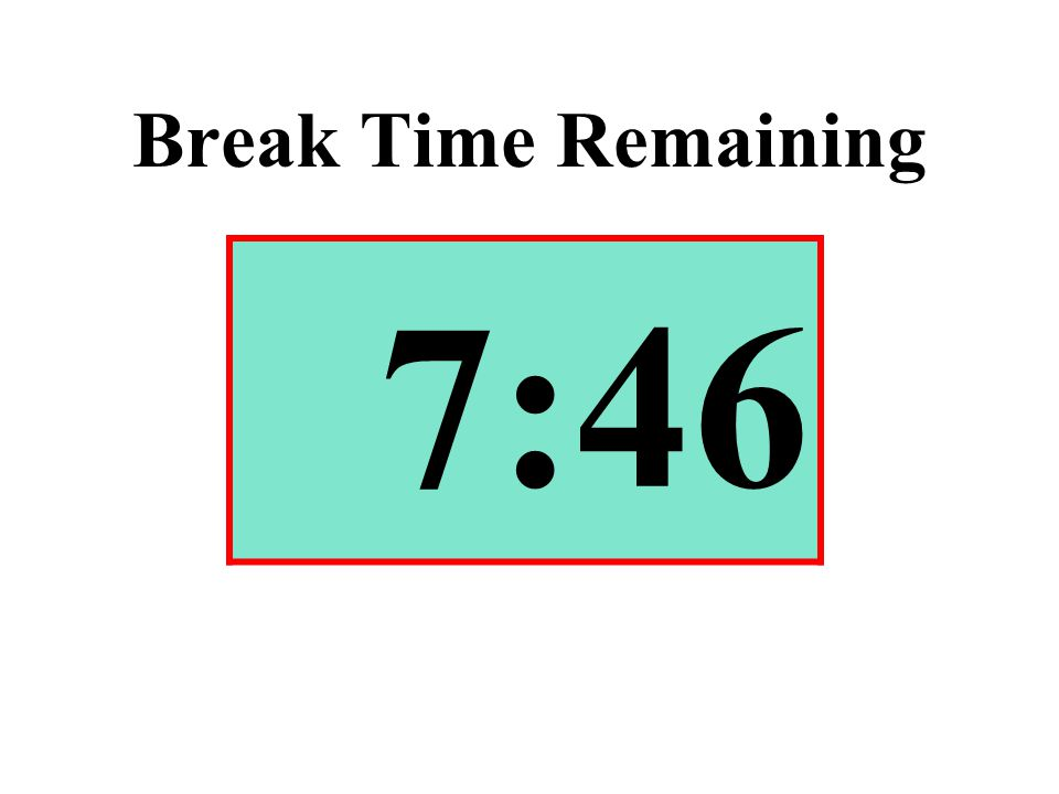 Break Time Remaining 7:46