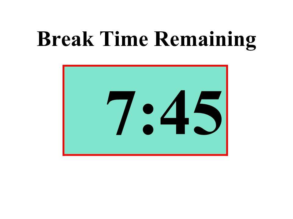 Break Time Remaining 7:45