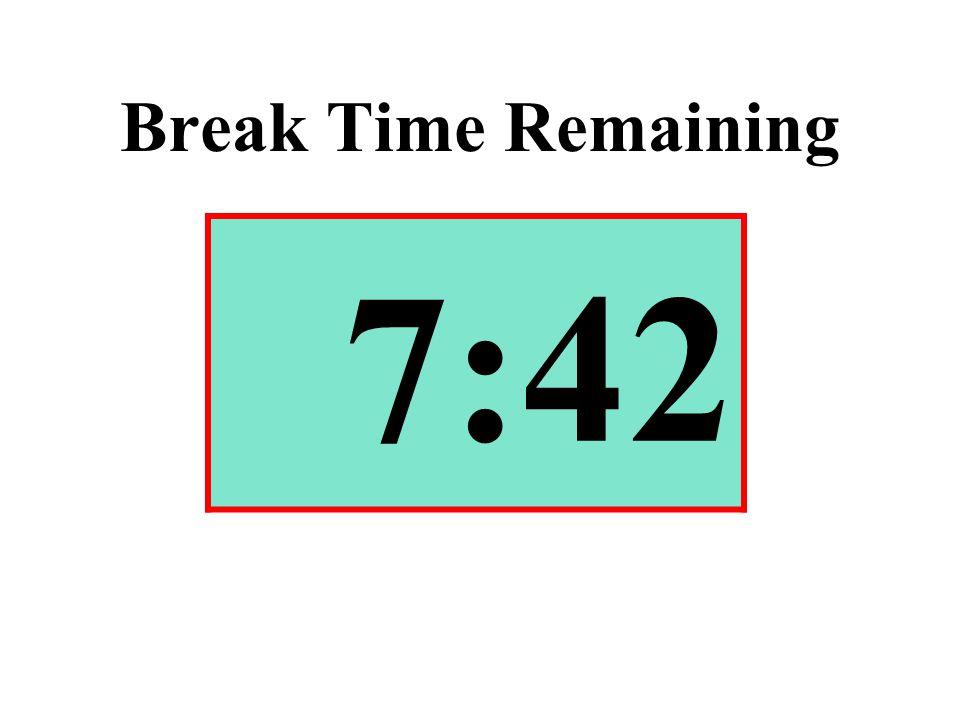 Break Time Remaining 7:42