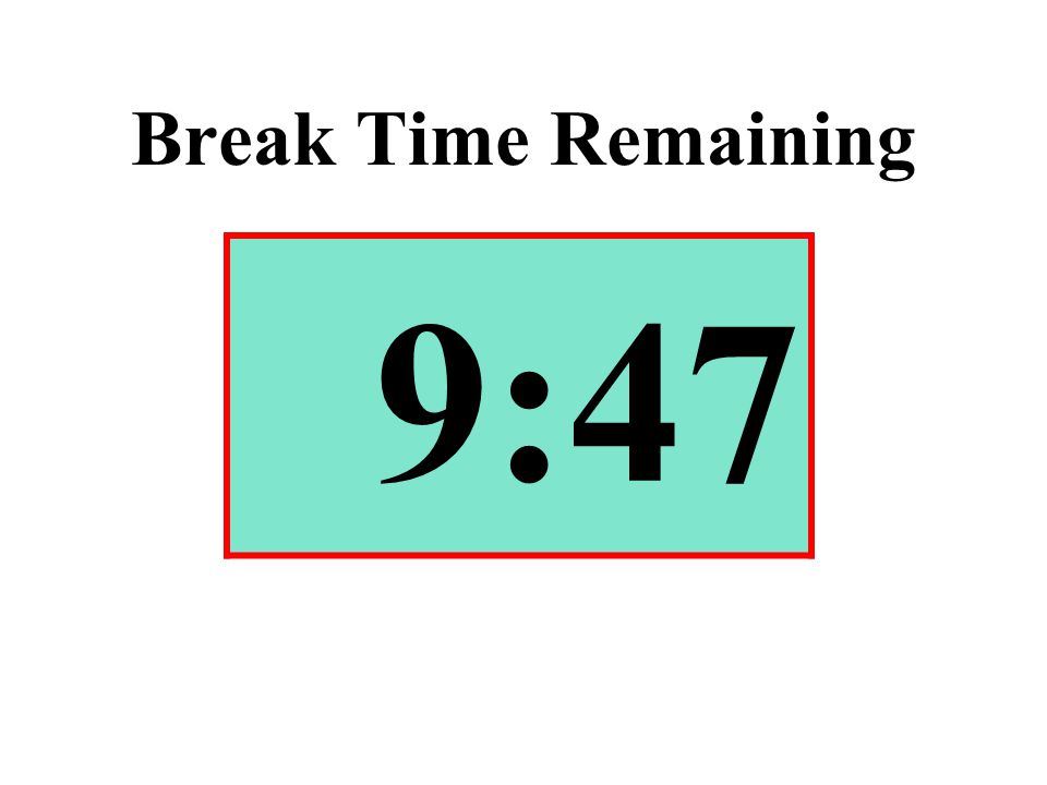 Break Time Remaining 9:47