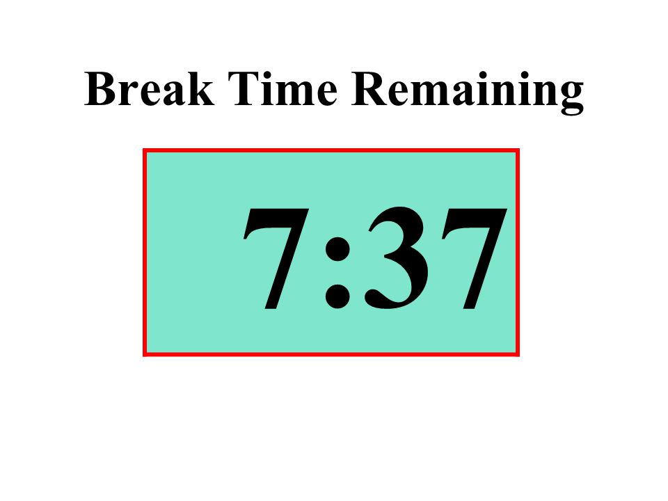 Break Time Remaining 7:37