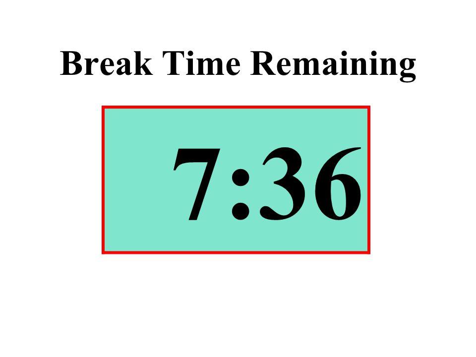 Break Time Remaining 7:36
