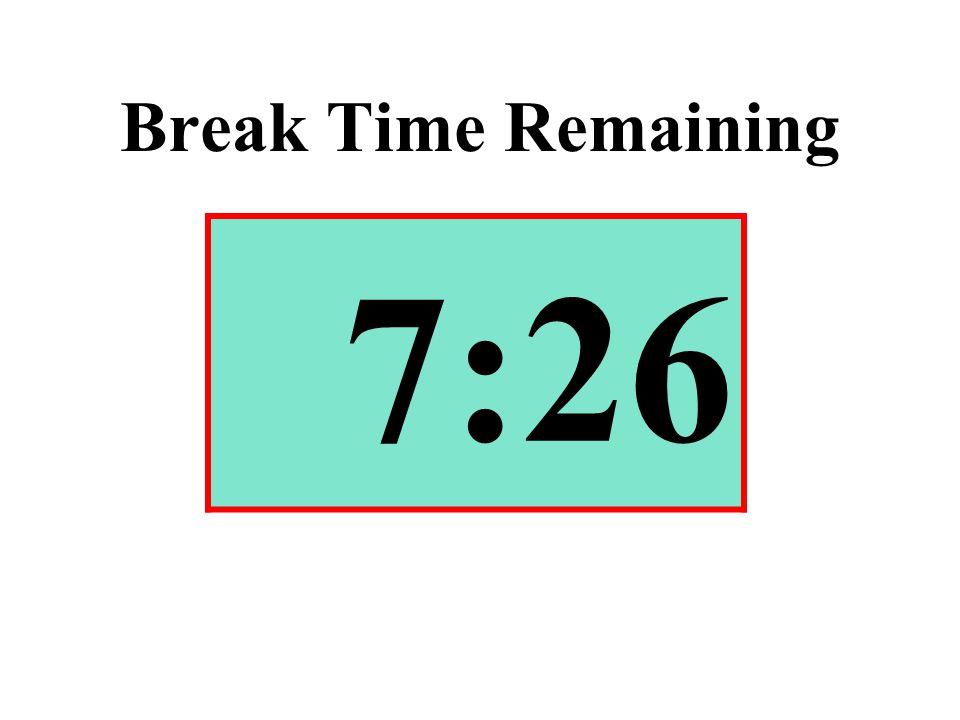Break Time Remaining 7:26
